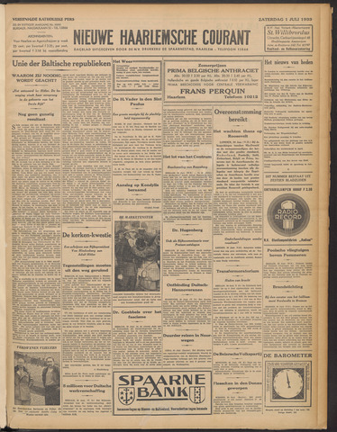 Nieuwe Haarlemsche Courant 1933-07-01