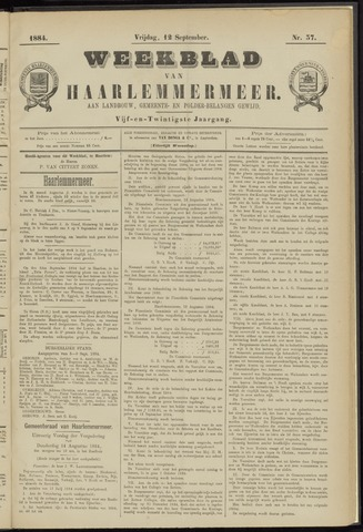 Weekblad van Haarlemmermeer 1884-09-12