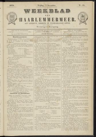Weekblad van Haarlemmermeer 1879-11-07