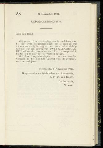 Raadsnotulen Heemstede 1930-11-27