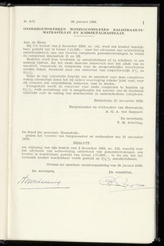 Raadsnotulen Heemstede 1956-01-26