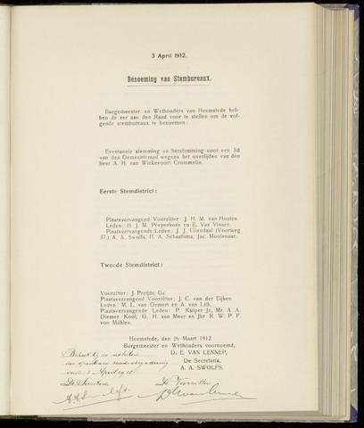Raadsnotulen Heemstede 1912-04-03