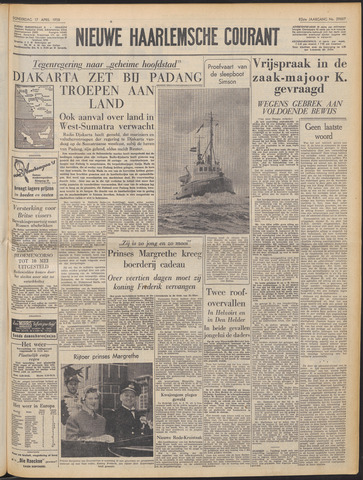 Nieuwe Haarlemsche Courant 1958-04-17