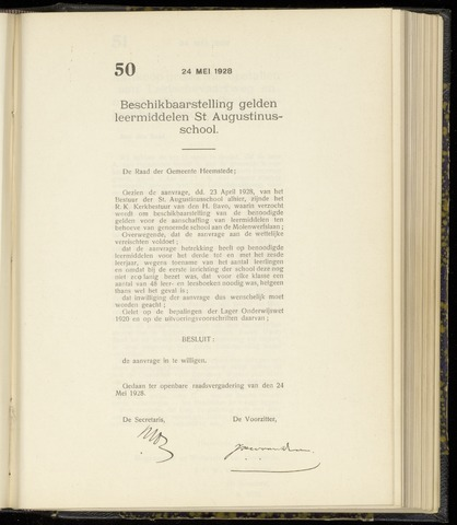 Raadsnotulen Heemstede 1928-05-24