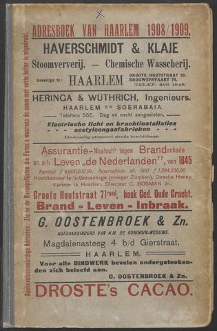 Adresboeken Haarlem 1908