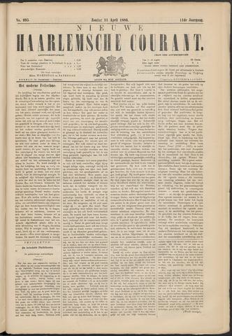 Nieuwe Haarlemsche Courant 1886-04-11