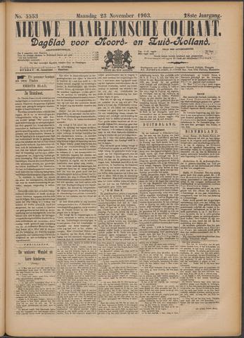 Nieuwe Haarlemsche Courant 1903-11-23