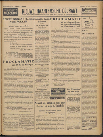 Nieuwe Haarlemsche Courant 1940-05-14