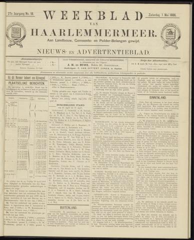 Weekblad van Haarlemmermeer 1886-05-01