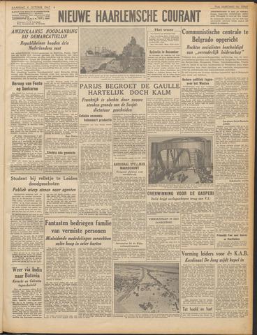 Nieuwe Haarlemsche Courant 1947-10-06