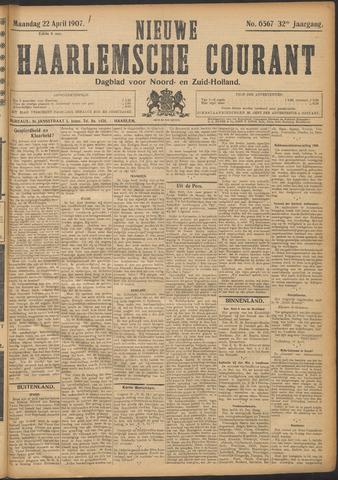 Nieuwe Haarlemsche Courant 1907-04-22