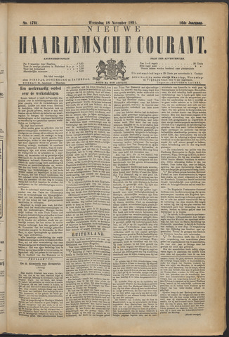 Nieuwe Haarlemsche Courant 1891-11-18
