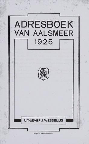 Adresboeken Aalsmeer 1925