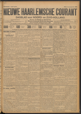 Nieuwe Haarlemsche Courant 1910-09-07