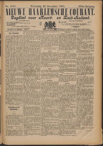 Nieuwe Haarlemsche Courant 1905-12-20
