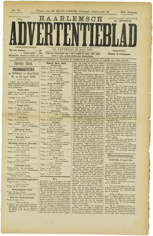 Haarlemsch Advertentieblad 1889-04-20