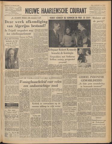 Nieuwe Haarlemsche Courant 1962-02-26