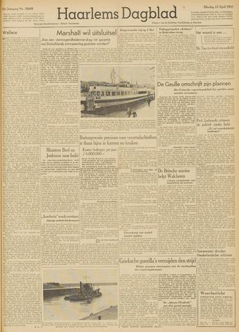 Haarlem's Dagblad 1947-04-15