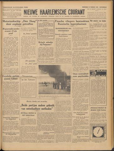 Nieuwe Haarlemsche Courant 1940-02-22