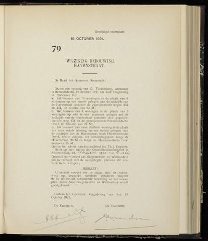 Raadsnotulen Heemstede 1921-10-19