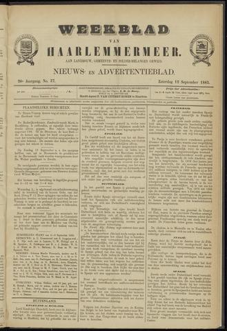 Weekblad van Haarlemmermeer 1885-09-12