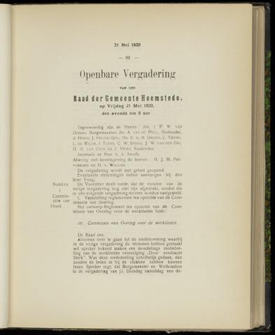 Raadsnotulen Heemstede 1920-05-21