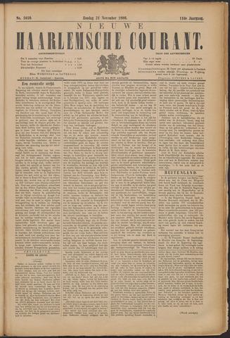 Nieuwe Haarlemsche Courant 1886-11-21