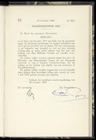 Raadsnotulen Heemstede 1950-10-26