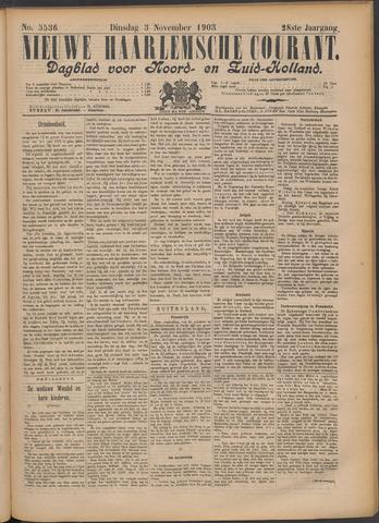 Nieuwe Haarlemsche Courant 1903-11-03