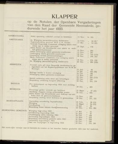Raadsnotulen Heemstede 1923-01-01