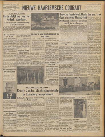 Nieuwe Haarlemsche Courant 1947-09-08