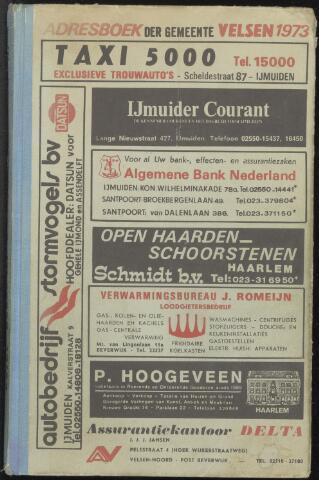 Adresboeken Velsen 1973