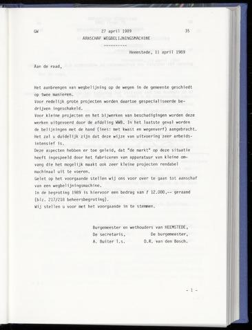 Raadsnotulen Heemstede 1989-04-27