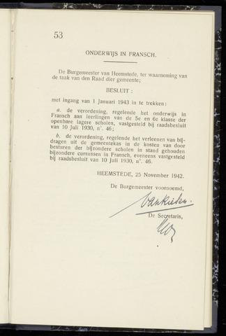 Raadsnotulen Heemstede 1942-11-25