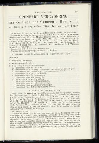Raadsnotulen Heemstede 1966-09-06