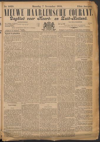Nieuwe Haarlemsche Courant 1898-11-07