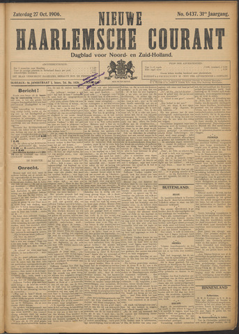 Nieuwe Haarlemsche Courant 1906-10-27