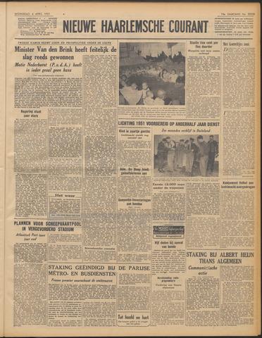 Nieuwe Haarlemsche Courant 1951-04-04