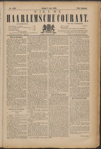 Nieuwe Haarlemsche Courant 1888-06-03