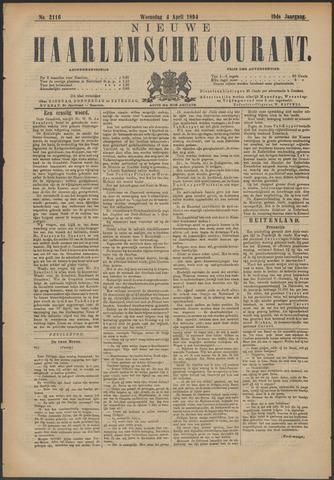 Nieuwe Haarlemsche Courant 1894-04-04