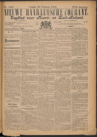 Nieuwe Haarlemsche Courant 1903-02-20