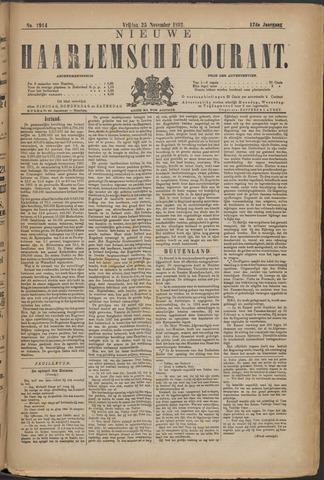 Nieuwe Haarlemsche Courant 1892-11-25