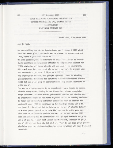 Raadsnotulen Heemstede 1989-12-22