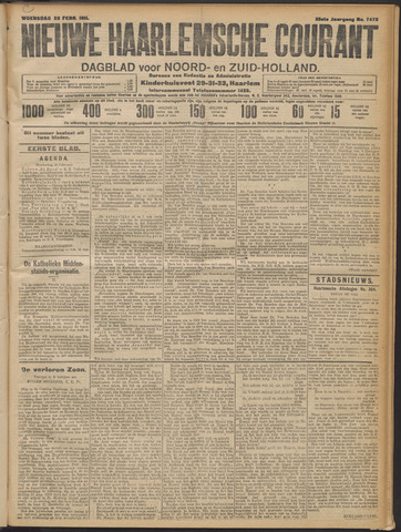 Nieuwe Haarlemsche Courant 1911-02-22