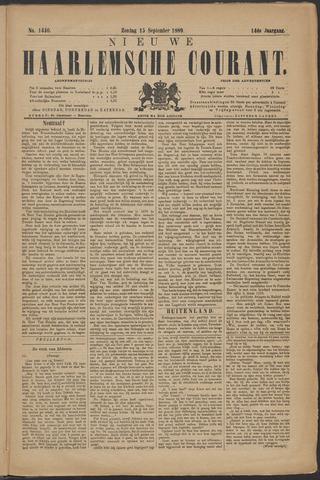 Nieuwe Haarlemsche Courant 1889-09-15