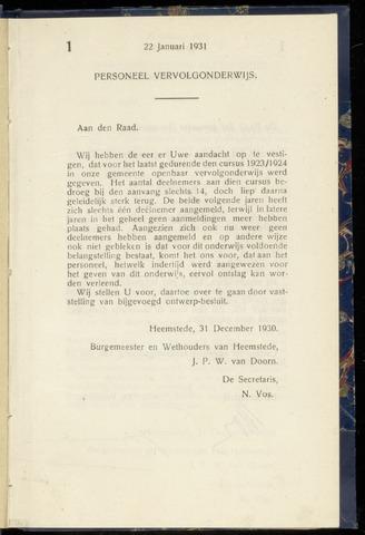 Raadsnotulen Heemstede 1931-01-22