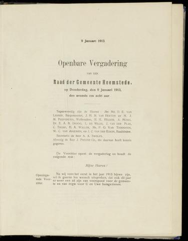 Raadsnotulen Heemstede 1913-01-09