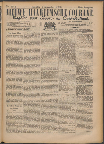 Nieuwe Haarlemsche Courant 1903-11-09