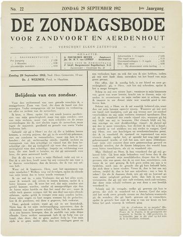 De Zondagsbode voor Zandvoort en Aerdenhout 1912-09-29