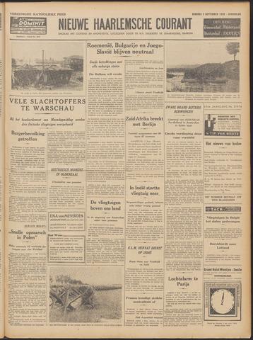 Nieuwe Haarlemsche Courant 1939-09-05